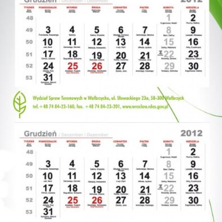 Druk kalendarzy trójdzielnych