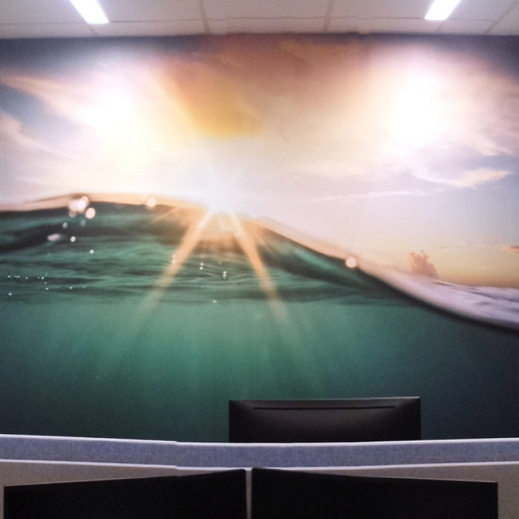 Druk i montaż fototapety w biurach