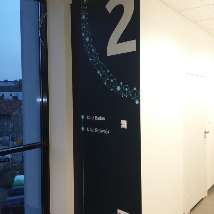 Fototapeta oznaczenie korytarzy